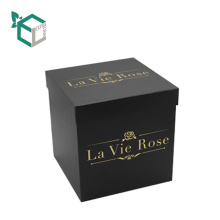 Foil Stamping Round Or Square Cardboard Luxury Rose Box with Lid